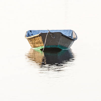 Lonely Row Boat Square Version Print by Bill Swindaman