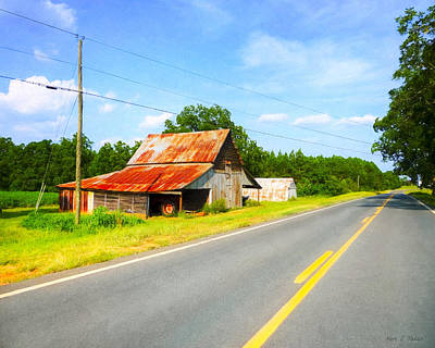 Lonesome Country Roads In The South Print by Mark E Tisdale