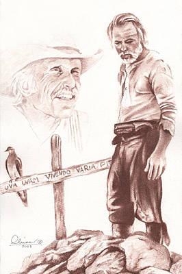 Lonesome Dove Gravesite Original by Bill Olivas