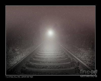 Lonesome Night Train Print by Pedro L Gili