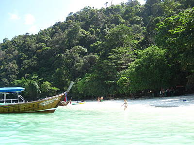 Long Boat Tour - Phi Phi Island - 0113170 Print by DC Photographer
