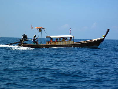 Asian Photograph - Long Boat Tour - Phi Phi Island - 0113198 by DC Photographer