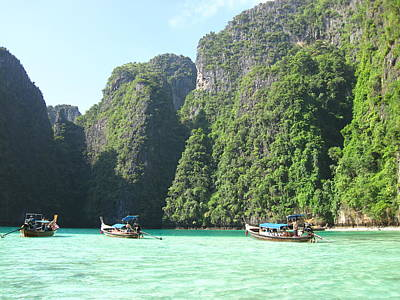 Asia Photograph - Long Boat Tour - Phi Phi Island - 011351 by DC Photographer