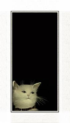 Domestic Short Hair Cat Painting - Long In Thought by Diane Strain