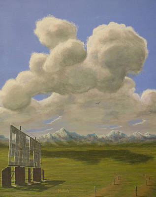 Distant Mountains Painting - Long Intermission by Jack Malloch