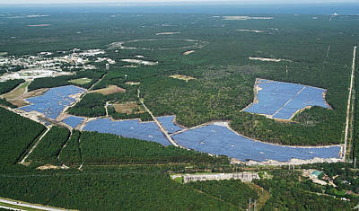 Long Island Solar Farm Print by Brookhaven National Laboratory