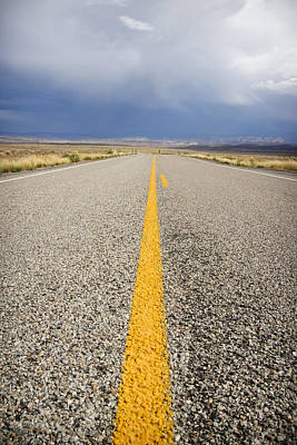 Striped Photograph - Long Lonely Road by Adam Romanowicz