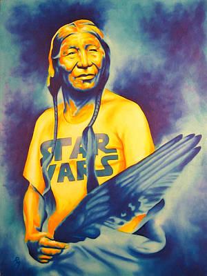 Chicano Art Painting - Long Long Ago by Robert Martinez