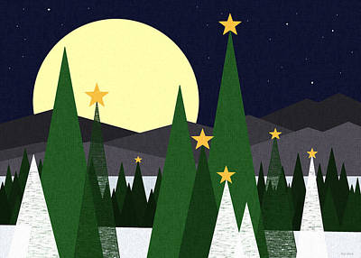 Long Night Moon Print by Val Arie