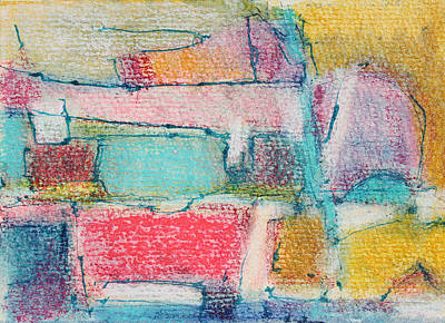 Abstract - Expressionist - African Art Painting - Long Summer Days by Hari Thomas