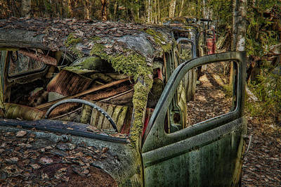 Scrap Metal Yard Photograph - Long Term Parking by Erik Brede