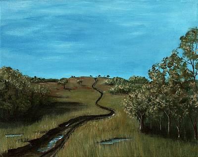 Leaf Painting - Long Trail by Anastasiya Malakhova