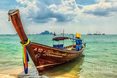 Longboat Asia Print by Adrian Evans