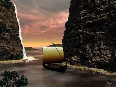 Longboat Print by John Pangia