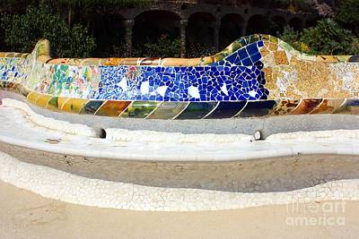 Ceramic Art Photograph - Longest Bench In The World by Sophie Vigneault