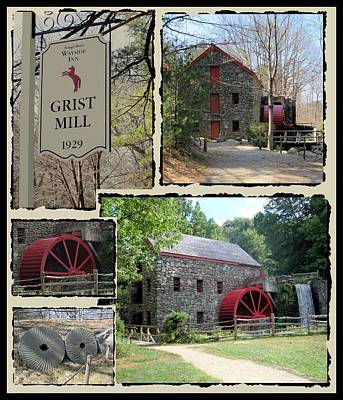 Longfellow's Grist Mill Print by Patricia Urato
