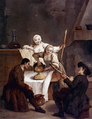 Pietro Longhi Painting - Longhi Kitchen, C1740 by Granger