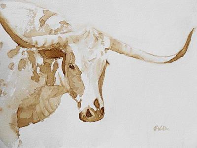 Longhorn Print by Judy Fischer Walton