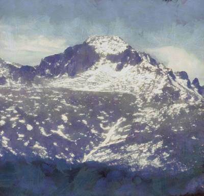 Nature Center Painting - Longs Peak by Dan Sproul