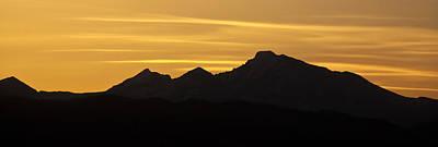 Longs Peak Silhouette Print by Marilyn Hunt