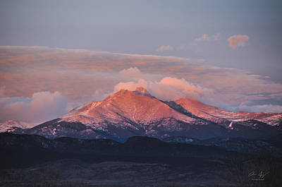 Longs Peak Sunrise Print by Aaron Spong