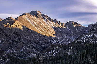 Vivid Fall Colors Photograph - Longs Peak Sunset by Aaron Spong