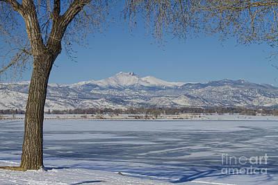 Longs Peaks Winter Landscape View Print by James BO  Insogna