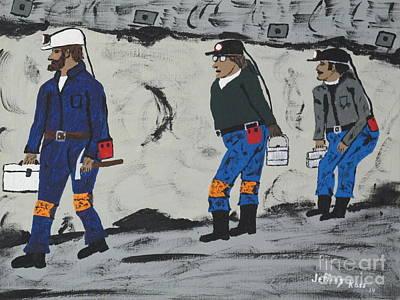Coal Miners  Working Original by Jeffrey Koss