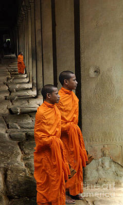 Looking Into Cambodia Ankor Wat Print by Bob Christopher
