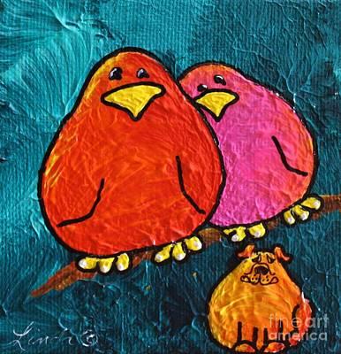 Limbbirds Painting - Look Alikes #2 by LimbBirds Whimsical Birds