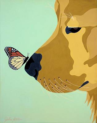 Golden Retriever Pop Art Painting - Look Deep Into My Eyes by Julie Stubbs