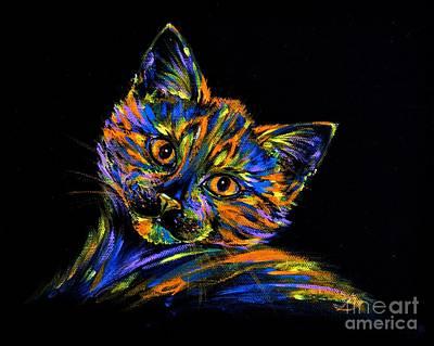 Fauna Painting - Look by Zaira Dzhaubaeva
