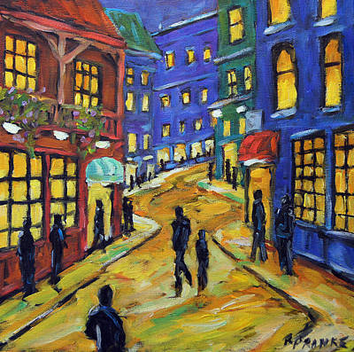 Quebec Streets Painting - Lookin For Some Fun By Prankearts by Richard T Pranke