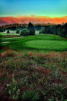 Golf Photograph - Looking Across 4 Green by Jim LaMorder