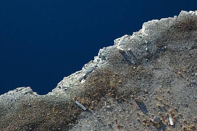 Minimal Photograph - Looking Down At The Shore Edge by Rob Huntley