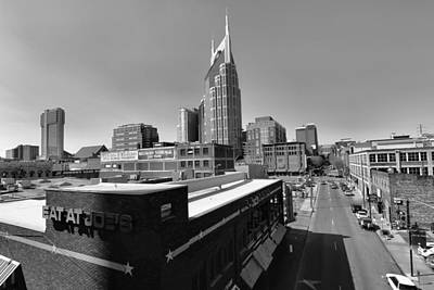 Nashville Skyline Photograph - Looking Down On Nashville by Dan Sproul