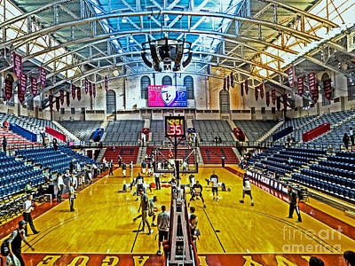 Hoop Photograph - Looking Down The Length Of The Court by Tom Gari Gallery-Three-Photography