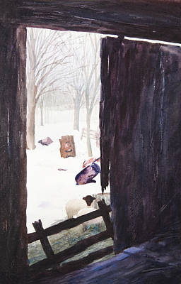 Tree Roots Painting - Looking Out Looking In by Rachel Christine Nowicki