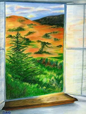 Looking Out The Window Print by Colleen Ward