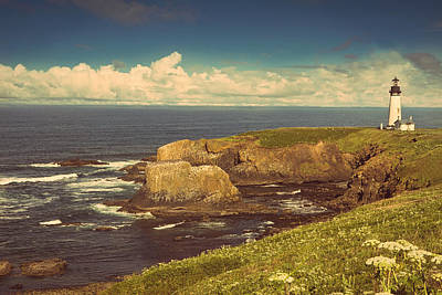 Yaquina Head Lighthouse Photograph - Looking Out To Sea by Andrew Soundarajan