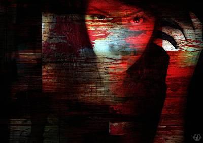 Femal Digital Art - Looking Through by Gun Legler