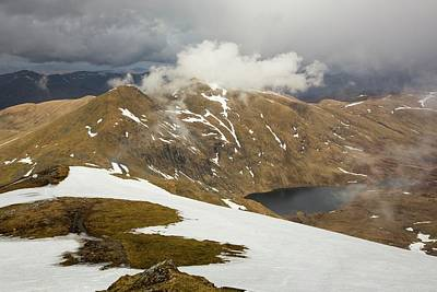 Snow Melt Photograph - Looking Towards Meall Garbh by Ashley Cooper