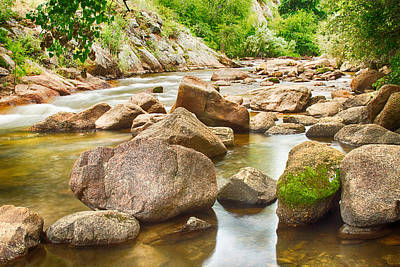 Creek Photograph - Looking Upstream The Colorado St Vrain River by James BO  Insogna