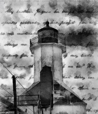 Lake Michigan Mixed Media - Lookout Lighthouse by Dan Sproul