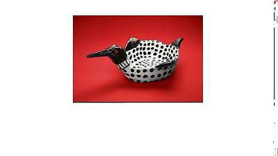 Sculpture - Loon Dish Will Be In Issue Of Adirondack Life Magazine  by Debbie Limoli