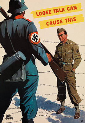 Us Propaganda Drawing - Loose Talk Can Cause This by Adolph Treidler