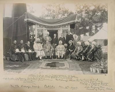 Colonial Man Photograph - Lord Curzon And The Maharaja Of Patiala by British Library