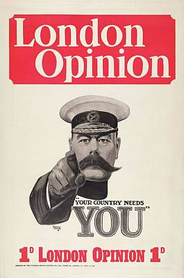 Lord Kitchener Army Recruitment Print by Library Of Congress