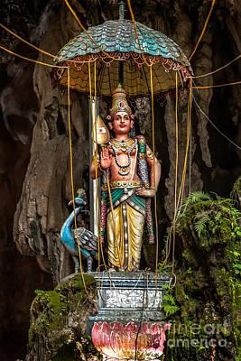 Malaysia Digital Art - Lord Murugan Statue by Adrian Evans