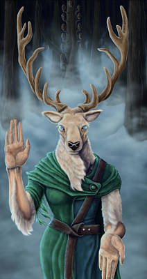 Ghost Digital Art - Lord Of The Forest by Alexa-Renee Smothers